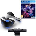 ps vr headset with camera and vr worlds